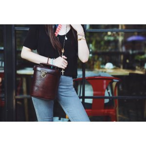 Unique Small Cross Body Vintage Inspired Leather Handbag