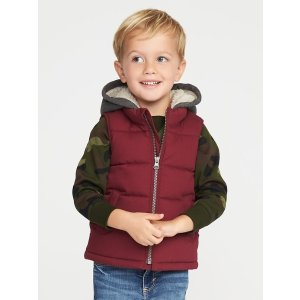2-in-1 Quilted Canvas Vest for Toddler Boys