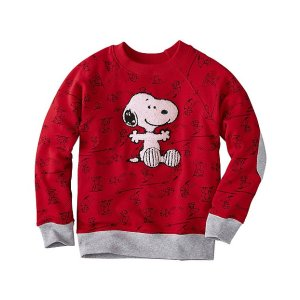 Kids Snoopy Be Mine Sweatshirt In 100% Cotton | Sale Boys All Sweaters And Jackets