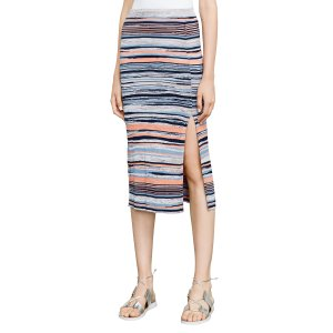 Emery Striped Midi Skirt