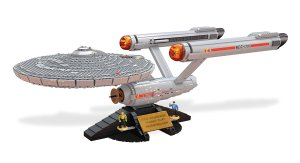$79.99(原价$249.99)美亚史低!Mega Bloks StarTrek星际迷航 U.S.S. Enterprise NCC-1701收藏版拼装模型套件