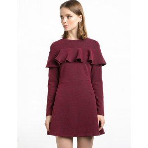 Veronica Ruffle Knit Dress