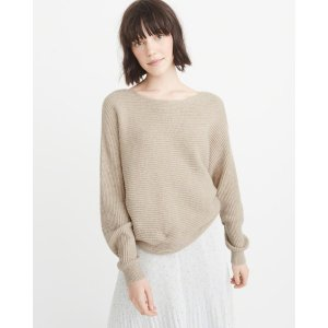 Womens Ribbed Dolman Sweater