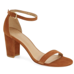 Stuart Weitzman NearlyNude Ankle Strap Sandal (Women) | Nordstrom