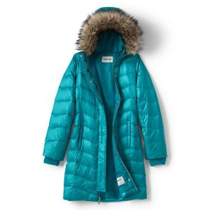 Girls Fashion Down Coat from Lands' End
