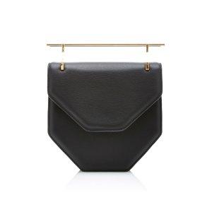 Amor/Fati Cross Body Black Leather Bag   Moda Operandi