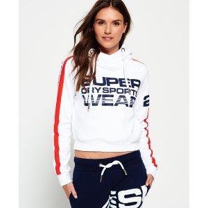 Superdry Sportswear Crop Hoodie - Women's Hoodies