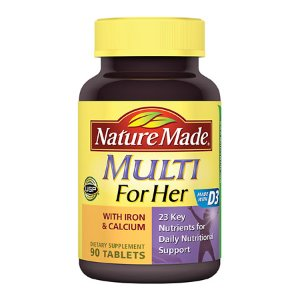 Nature Made Multi For Her With Iron & Calcium Dietary Supplement Tablets | Walgreens