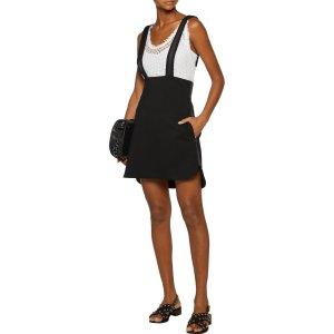 Rimeur satin-trimmed crepe de chine mini dress | Maje