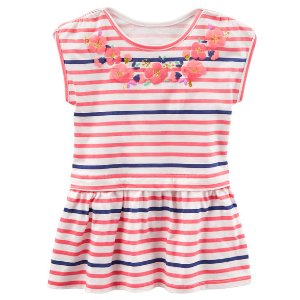 Toddler Girl TLC Striped Peplum-Hem Tunic | OshKosh.com