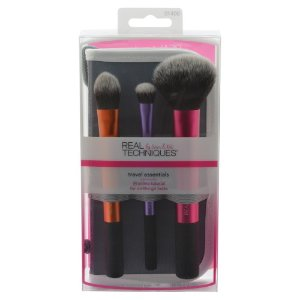 Real Techniques Travel Essentials Set with 2-in-1 Case with Stand