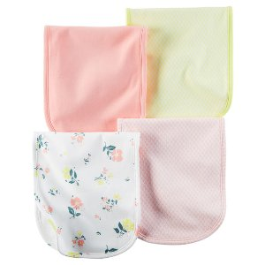 Baby Girl 4-Pack Burp Cloths | Carters.com