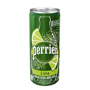 $7PERRIER Lime Flavored Sparkling Mineral Water, 8.45 fl oz. Slim Cans (30 Count)