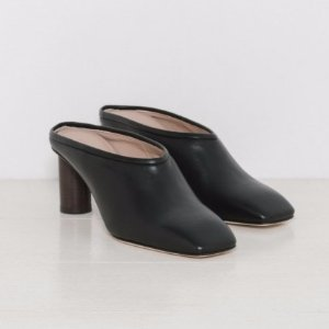 Helmut Lang Square Toe Mule in Black