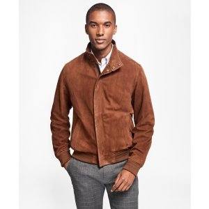 Suede Bomber Jacket - Brooks Brothers