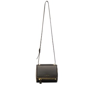 Givenchy Mini Smooth Leather With Chain Piping Pandora – 黑色 | FWRD