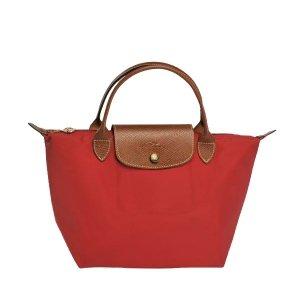 Longchamp Le Pliage Small Handbag - Burnt Red