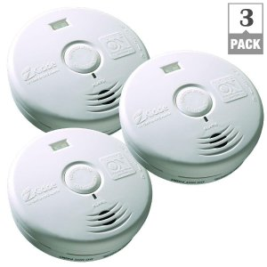Kidde 10-Year Worry Free Battery Operated Smoke Alarm with LED Escape Light-(Bundle of 3)-21027436 - The Home Depot