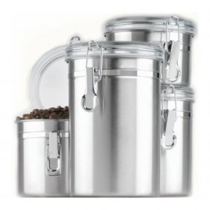 Anchor Hocking 4pc Stainless Steel Canister Set w/ Clear Lid - Friday Frenzy Sale - Sale