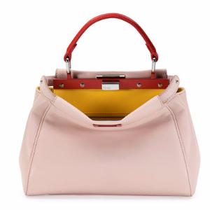 Peekaboo Mini Tricolor Satchel Bag