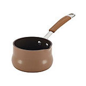 Rachael Ray® Cucina .75-qt. Mushroom Brown Hard Enamel Nonstick Butter Warmer | Bon-Ton