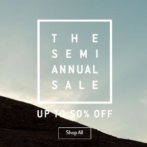Up to 50% off Top brands Semi-Annual Sale @ Backcountry