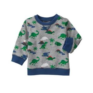 Baby Heather Grey Dino Pullover by Gymboree