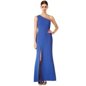 Calvin Klein One Shoulder Side Slit Gown | Bluefly.Com