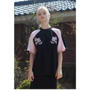 SAKURA SUKAJAN T-SHIRTS BLACK PINK
