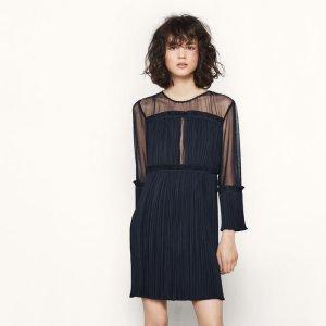 RITZY Short lightly pleated dress - Dresses - Maje.com