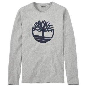 Men's Long Sleeve Tree Logo Ringer T-Shirt | Timberland US Store