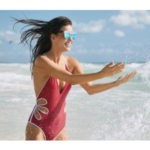 AERIE PIPING ONE PIECE SWIMSUIT