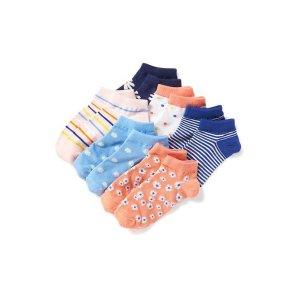 6-Pack Ankle Socks for Girls