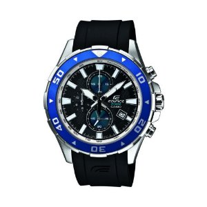 Casio Men's EFM501-1A2 Edifice Quartz Chronograph Black Resin Band 44mm Watch | eBay