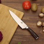 Soufull Chef Knife 8 inches Japanese Stainless Steel Gyutou Knife Professional Kitchen Knife