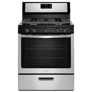Whirlpool 5.1 cu. ft. Gas Range in Stainless Steel-WFG505M0BS - The Home Depot