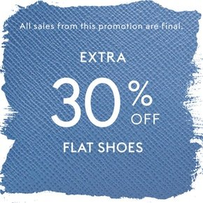 Up to 75% Off + Extra 30% OffFlat Shoes @ THE OUTNET