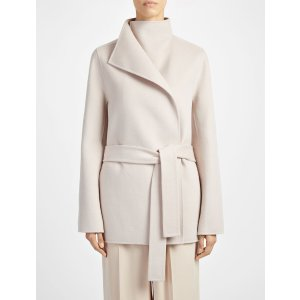 Double Face Cashmere Lima Sh Coat in Pink | JOSEPH