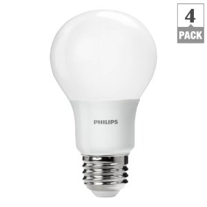 Philips 60W Equivalent Daylight A19 LED Light Bulb (4-Pack)-460329 - The Home Depot