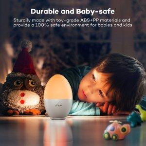 超低价 $15.99VAVA 4000毫安内置电池 LED 护眼鸡蛋小夜灯