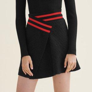JISPE Asymmetric tweed skirt