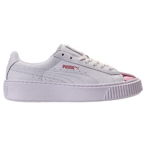 Women's Puma Basket Platform Metallic Casual Shoes
