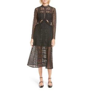 Payne Cutout Lace Midi Dress