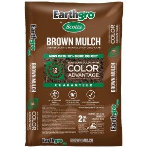 Scotts Earthgro 2立方英尺铺地木屑 棕色