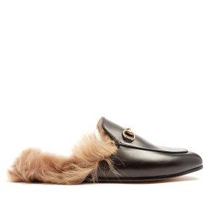 Gucci Princetown shearling-lined leather loafers