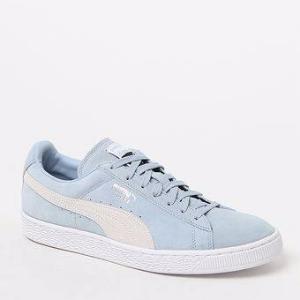 Puma Suede Classic Plus Blue & White Shoes at PacSun.com