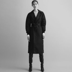 GOODWIN Trench coat with side zips