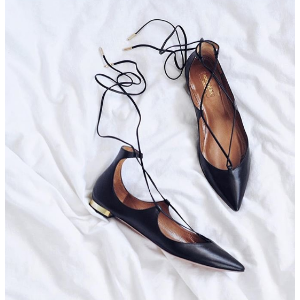 Christy Lace-Up Flats by Aquazzura | Moda Operandi