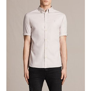 ALLSAINTS US: Mens Redondo Half Sleeved Shirt (ASH PINK)