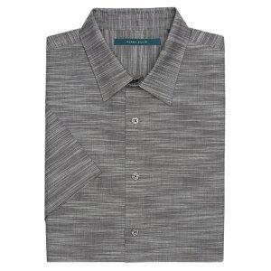 Big and Tall Short Sleeve Solid Slub Texture Shirt - Perry Ellis